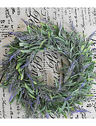 cheap -Simulate Lavender Wreath Pretty Garland Floriation Hanging Pendant Decoration for Home Wedding Photo Prop