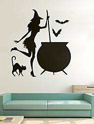 cheap -Decorative Wall Stickers - Animal Wall Stickers / Holiday Wall Stickers Animals / Halloween Decorations Living Room / Bedroom / Kitchen / Removable / Re-Positionable