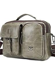 cheap -Men's Bags Cowhide Laptop Bag Crossbody Bag Top Handle Bag Belt Zipper Solid Color Daily Outdoor Black Bronze Beige Coffee
