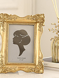 cheap -1 Pc Photo Frame Elegant Carving Floral Pattern Decorative Photo Frame