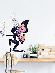 cheap -Cute Fairies Wall Stickers - Words & Quotes Wall Stickers Characters Study Room / Office / Dining Room / Kitchen