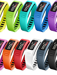 Недорогие -Небольшой размер, совместимый с полосами Garmin Vivofit Мягкие силиконовые красочные фитнес замена полосы совместимы с Garmin Vivofit 1