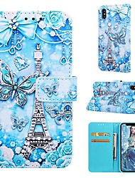 cheap -Case For Apple iPhone XR / iPhone XS Max Magnetic / Flip / with Stand Full Body Cases Butterfly Hard PU Leather for iPhone 6/6s Plus/7/8 Plus/XS/X