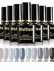 cheap -12 Pcs color 109-120 Mottled Soak-Off UV/LED Gel Nail Polish Solid Color Nail Lacquer Sets
