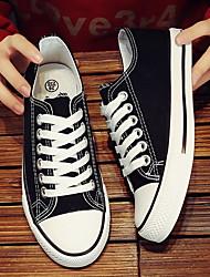 cheap -Women's Flats Flat Heel Round Toe Canvas Spring & Summer Black / White / Red