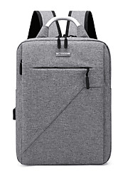 cheap -Large Capacity Oxford Zipper School Bag Solid Color Daily Black / Gray / Purple / Fall & Winter