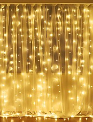 cheap -3Mx2M 240LED WhiteWarm WhiteMulticolor Light Romantic Christmas Wedding Outdoor Decoration Curtain String Light