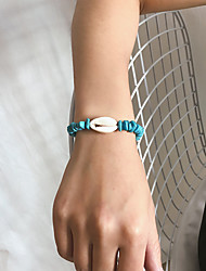 cheap -Women's Bracelet Braided Shell Trendy Gothic Stone Bracelet Jewelry Blue For Gift Daily School Holiday Work