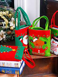 cheap -Christmas Series Pattern Candy Bag Handbag for Xmas Home Party Decoration Gift Bag