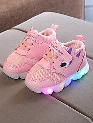 cheap -Girls' LED / LED Shoes PU Sneakers LED Shoes Little Kids(4-7ys) / Big Kids(7years +) Walking Shoes LED / Luminous White / Purple / Red Spring / Summer / Rubber
