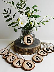 Недорогие -Иу pho_04wq оригинальные экологические ветви деревянные щепки свадебные принадлежности 1-10 цифровые украшения журнала цвет