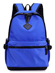 cheap -Large Capacity Oxford Zipper School Bag Solid Color Daily Black / Gray / Dark Green / Fall & Winter