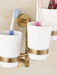 cheap -Toothbrush Holder Creative Contemporary Brass 1pc - Bathroom Wall Mounted