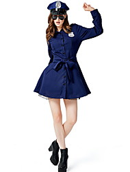 cheap -Police Costume Women's Career Halloween Performance Cosplay Costumes Theme Party Costumes Women's Dance Costumes Terylene Split Joint