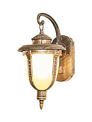 Недорогие -наружное водонепроницаемое настенное бра освещение алюминиевое стекло настенный светильник для внутреннего двора сад вилла освещения