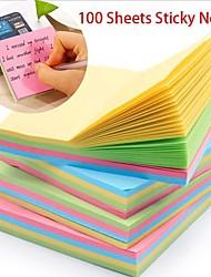 cheap -Natural Fiber Rainbow 100pcs Stickers & Tapes 8*8 cm