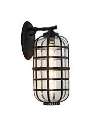 cheap -Antique Wall Sconce Lantern Glass Wall Light Fixture Waterproof Antique Flush Mount wall Lights / Outdoor Wall Lights Shops / Cafes / Outdoor Metal Wall Light IP 65