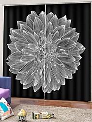 abordables -Rideaux modernes simples d'impression 3d occultation rideau en tissu de protection solaire pour le bureau de la chambre luxueux durable épaississement rideau