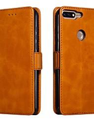 cheap -Case For Xiaomi Xiaomi Redmi 4A / Xiaomi Redmi 4X / Xiaomi Redmi 3S Wallet / Card Holder / Shockproof Full Body Cases Solid Colored Hard PU Leather