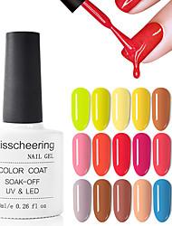 Недорогие -Лак для ногтей кофе серый красный серии ногтей чистый цвет ногтей лак для ногтей лак украшения 8 мл