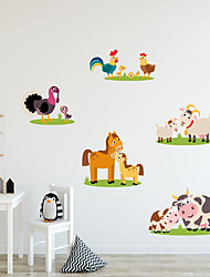 cheap -Cartoon Cute Animals Wall Stickers - Words &ampampamp Quotes Wall Stickers Characters Study Room / Office / Dining Room / Kitchen