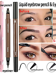 cheap -2 in 1 Eyeliner Four Liquid Eyebrow Pencil Waterproof Multi-Function Long-Lasting Eye Makeup