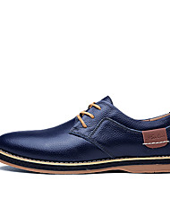cheap -Men's Nappa Leather Fall / Spring & Summer Business / Casual Oxfords Breathable Black / Brown / Blue / Wedding