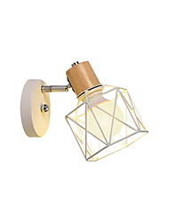 cheap -Wall Lamp Minimalist Wall Sconces Simple Wall Light Fixtures Bedside Reading Lights Cages Shade Head Adjustable Light Wall Mounted