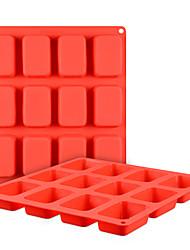 Недорогие -Yiwu pho_0855 Силиконовая форма для выпечки тортов из 12 кусков квадратного пирожного