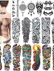 Недорогие -18 pcs Временные татуировки Экологичные / Одноразового использования Корпус / плечо / назад Картон