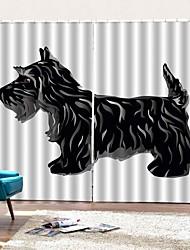 Недорогие -Веб знаменитости стиль уф-печати собака ткань искусства занавес высокое качество теплоизоляции солнцезащитный крем утолщение полная затенение 100% полиэстер занавес