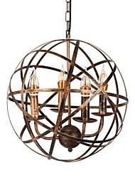Недорогие -деревенский подвесной светильник промышленный подвесной светильник регулируемый подвесной светильник глобус подвесные светильники фонарь подвесной светильник окружающий свет окрашенные отделки
