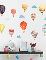 cheap -DIY Hot Balloon Wall Sticking Paper Wallpaper in Children's Bedroom Living Room Studio Decorative Wall Stickers - Plane Wall Stickers Still Life Kids Room / Nursery