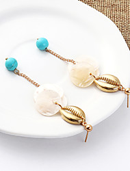 cheap -Women's Drop Earrings Earrings Dangle Earrings Stack Shell Simple Korean Fashion Shell Earrings Jewelry Golden For Party Gift Daily Stage Holiday 1 Pair