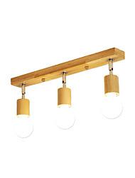 abordables -plafonnier 3 lumières lustres simples luminaires suspendus en bois luminaires encastrés montage couloir couloir chambre plafonniers