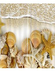 Недорогие -украшения дома цифровая печать природный ландшафт простой установки занавес затенение гостиная полиэстер ткань занавес