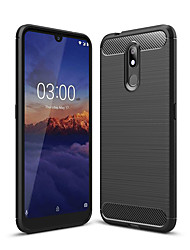 cheap -Case For Nokia Nokia 4.2 / Nokia 3.2 Dustproof Back Cover Solid Colored Soft Carbon Fiber