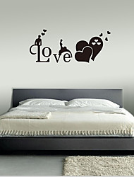 cheap -Romantic English Love Wall Stickers - Animal Wall Stickers Animals / Landscape Study Room / Office / Dining Room / Kitchen