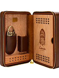 cheap -LUBINSKI  Cigar Humidors/Portable Travel Cigar Case Premium Crocodile Leather Case for 4 Cigars  Come with Cigar Cutter  Packed With Nice Gift Box