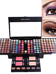 cheap -180 colors matte nude shimmer eyeshadow palette makeup set with brush mirror Shrink professional Cosmetic case makeup kit