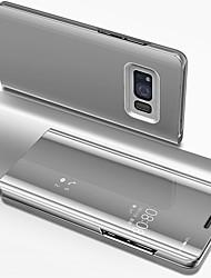Недорогие -Кейс для Назначение SSamsung Galaxy S8 Покрытие / Зеркальная поверхность / Флип Чехол Однотонный Твердый ПК