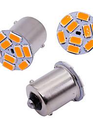 cheap -10pcs car S25 1156 BA15S p21w 5630 9 Smd Bulbs For Car Side Indicator Lamp Turn Signal Lights Brake lamp Amber white 12v