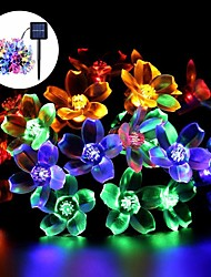 cheap -Solar String Lights, 50 LED Fairy Peach Flower Lights, Christmas Solar Rope Light for Outdoor Garden Holiday Party Decoration
