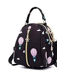 abordables -Ajustable Nylon Motif / Impression / Fermeture sac à dos Géométrique Quotidien Noir / Rose Claire / Violet