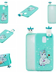 cheap -For Samsung A50 3D Cartoon Lovely Coloured Painted Soft TPU Back Cover Non-slip Shockproof Full Protective Case
