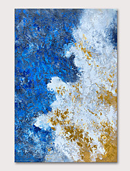 cheap -Oil Painting Hand Painted - Abstract Abstract Landscape Modern Rolled Canvas