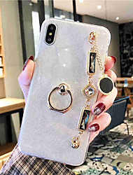 cheap -Case For Apple iPhone XS / iPhone XR / iPhone XS Max Rhinestone Back Cover Transparent TPU