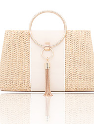 cheap -Women's Polyester Evening Bag Solid Color Gold / Beige / Fall & Winter