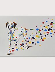 cheap -Oil Painting Hand Painted - Pop Art Modern Stretched Canvas