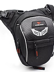 cheap -WOSAWE Motorcycle Drop Leg Bag Reflective Fanny Pack Tactical Waist Hip Thigh Hiking Travel Pouch